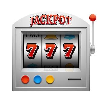 Vetor de máquina de jogo de slot cassino sorte e ganhar o conceito