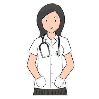 Vetor de médico
