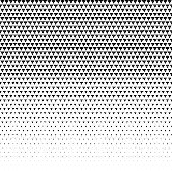 Vetor de meio-tom de design de padrão de triângulo