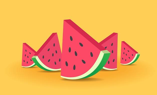 Vetor de melancia