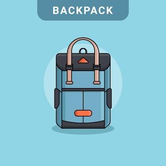 Vetor de mochila em design plano
