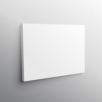 Vetor de mockup de exibição de tela de parede vazia