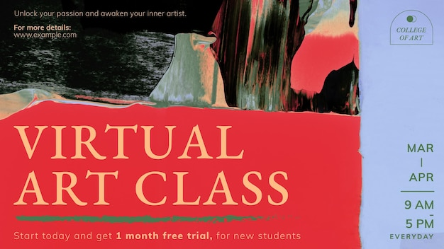 Vetor de modelo abstrato, classe virtual para banner de blog