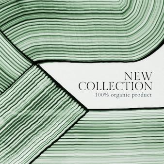 Vetor de modelo de arte abstrata mínima nova coleção de compras nas mídias sociais