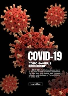 Vetor de modelo de awarenss de covid-19 e corona virus