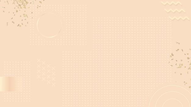 Vetor de modelo de banner de blog de memphis ouro rosa