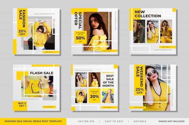 Vetor de modelo de banner de venda de moda