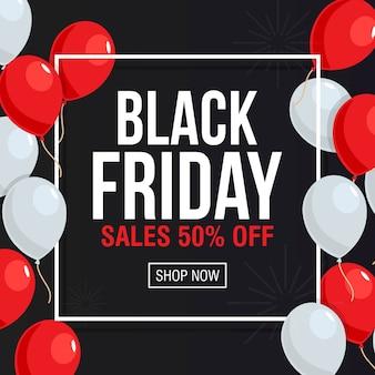 Vetor de modelo de banner de venda de sexta-feira negra