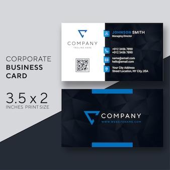 Vetor de modelo de cartão corporativo