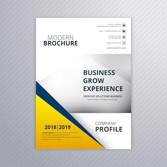 Vetor de modelo de cartão de brochura empresarial elegante moderno