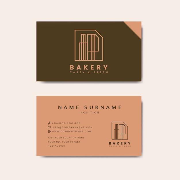 Vetor de modelo de cartão de loja de café