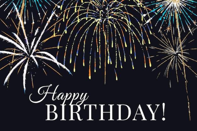 Vetor de modelo de celebração para banner com texto editável, feliz aniversário