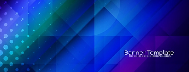 Vetor de modelo de design de banner moderno e colorido estilo geométrico