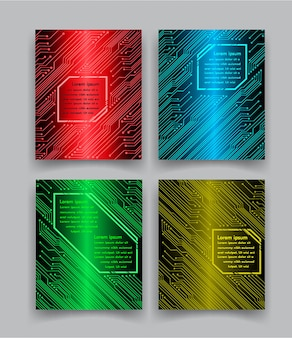 Vetor de modelo de design de brochura livro de capa abstrata portfólio azul cartaz de apresentação mínima