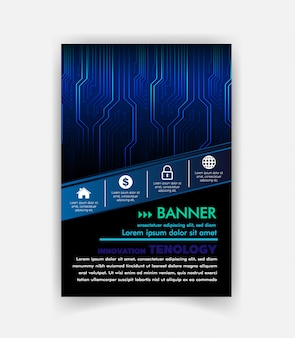 Vetor de modelo de design de brochura