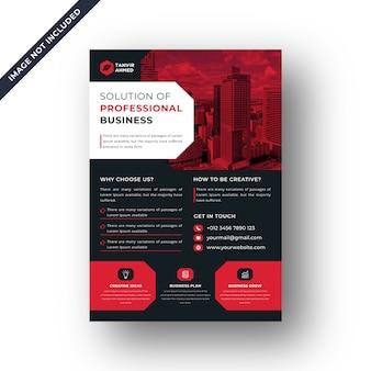 Vetor de modelo de design de folheto corporativo preto