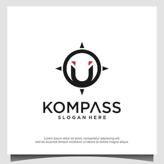 Vetor de modelo de design de logotipo compass