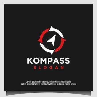 Vetor de modelo de design de logotipo compass Vetor Premium