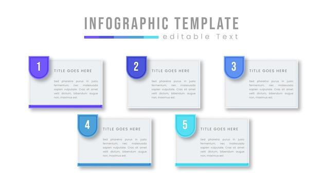 Vetor de modelo de design gráfico de informações de negócios coloridas com ícones e opções ou etapas. pode ser usado para diagrama de processo, apresentações, layout de fluxo de trabalho, banner, fluxograma, gráfico de informações