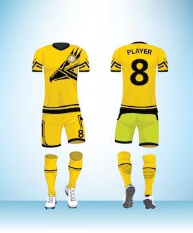 Vetor de modelo de design uniforme de futebol