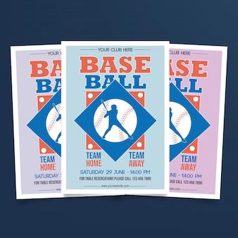 Vetor de modelo de folheto de beisebol