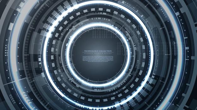 Vetor de modelo de fundo abstrato futurista de tecnologia