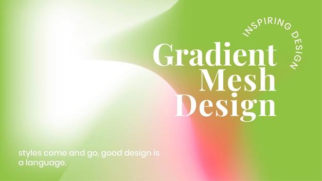 Vetor de modelo de gradiente de malha colorida para banner do blog