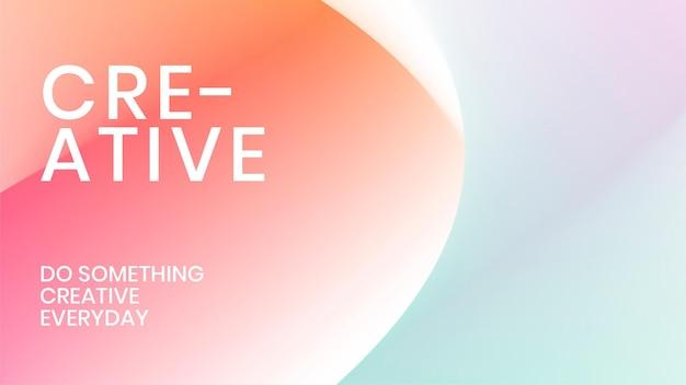 Vetor de modelo de gradiente de malha estética para banner do blog