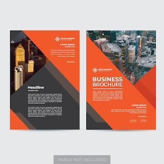 Vetor de modelo de layout de folheto moderno corporativo