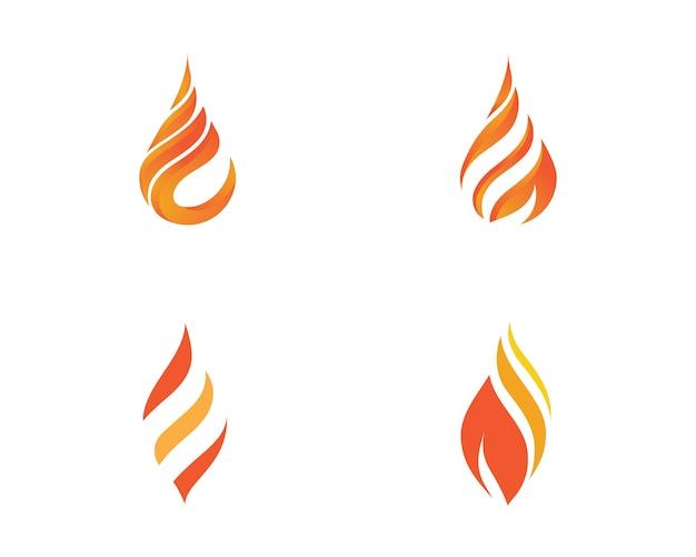 Vetor de modelo de logotipo de chamas de fogo