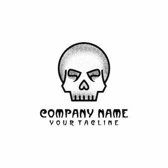 Vetor de modelo de logotipo de crânio