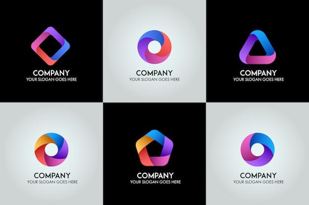Vetor de modelo de logotipo de negócios 3d