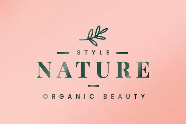 Vetor de modelo de logotipo de negócios em relevo para marcas orgânicas