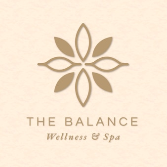 Vetor de modelo de logotipo de spa editável para saúde e bem-estar