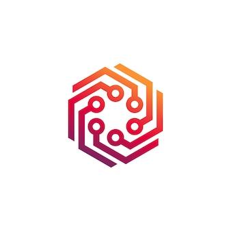 Vetor de modelo de logotipo de tecnologia