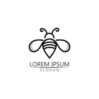 Vetor de modelo de logotipo e símbolo de abelha