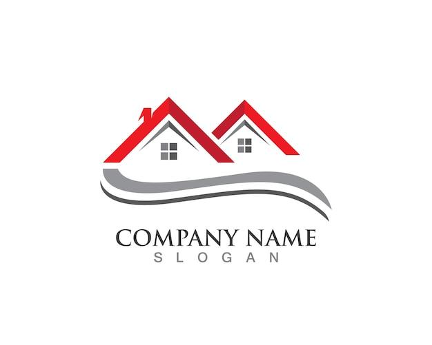 Vetor de modelo de logotipo em casa