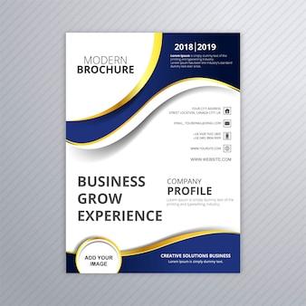 Vetor de modelo de onda de brochura de negócios linda