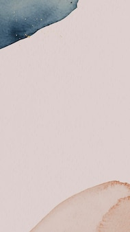 Vetor de modelo de papel de parede de celular com padrão aquarela azul e rosa