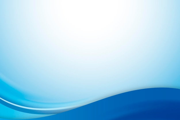 Vetor de modelo de quadro de curva azul