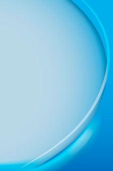 Vetor de modelo de quadro de curva de azul cerúleo