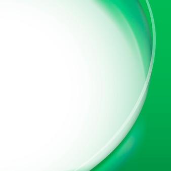 Vetor de modelo de quadro de curva verde esmeralda