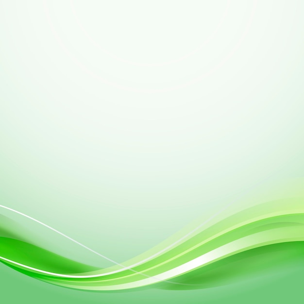 Vetor de modelo de quadro de curva verde