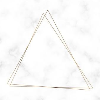 Vetor de modelo de quadro de triângulo dourado