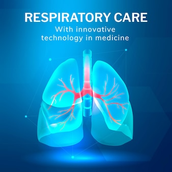 Vetor de modelo de tecnologia de cuidados respiratórios