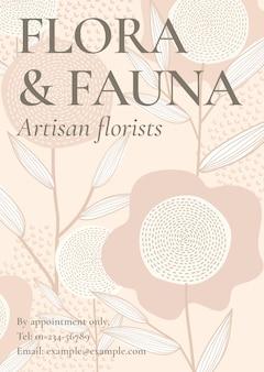 Vetor de modelo floral feminino para cartaz