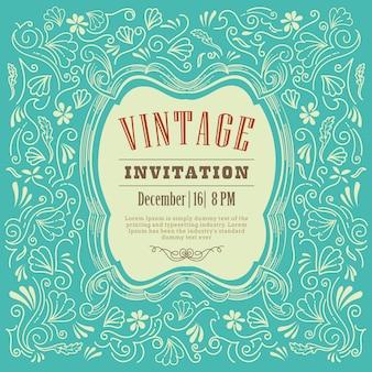 Vetor de modelo vintage convite cartão design