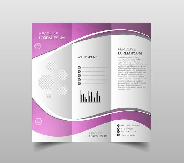 Vetor de modelos de design de brochura com três dobras