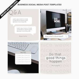 Vetor de modelos de postagem de mídia social empresarial