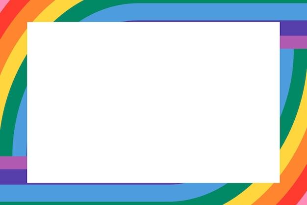 Vetor de moldura arco-íris para o mês do orgulho lgbtq